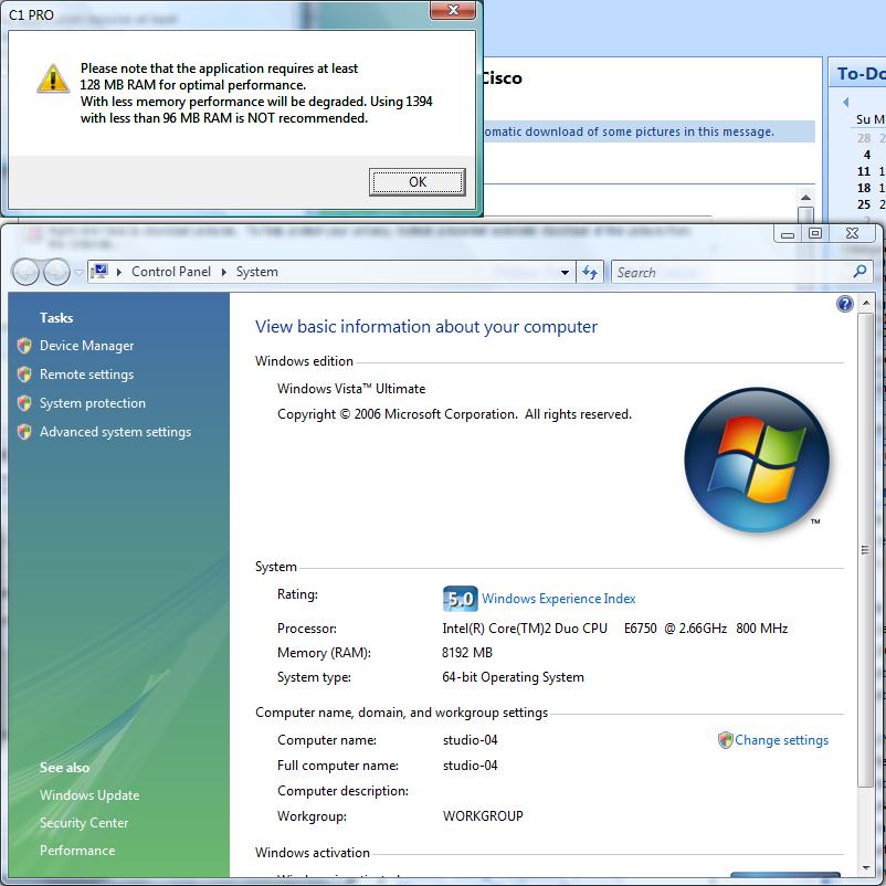 Dell inspiron 1555 ( core 2 duo / 4 gb / 320 gb / windows vista.